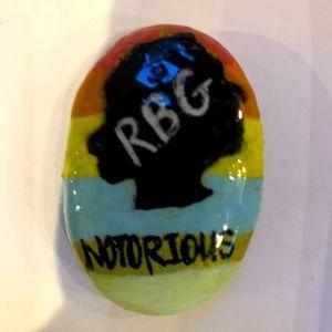 RBG Handpainted Ginsburg Rock Stone